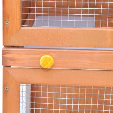 vidaXL Zunanji zajčnik / hišica za male živali z 1 vrati iz lesa[6/8]