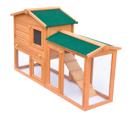 Outdoor Large Rabbit Hutch Small Animal House Pet Cage Wood