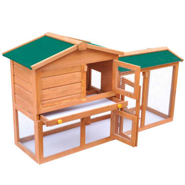 Outdoor Large Rabbit Hutch Small Animal House Pet Cage Wood[3/6]