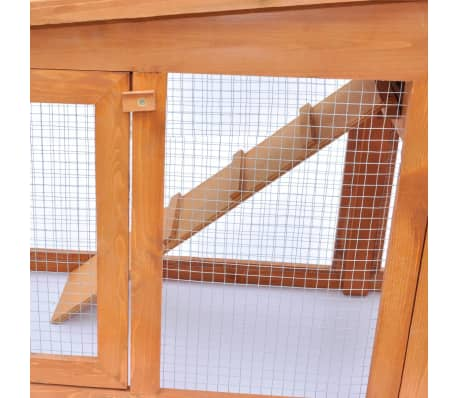 Large Rabbit Hutch Small Animal House Pet Cage with 2 Runs Wood[5/6]