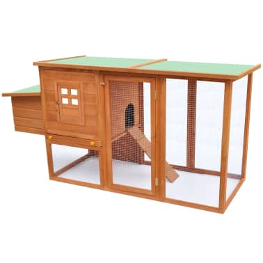 vidaXL Outdoor Chicken Cage Hen House with 1 Egg Cage Wood[1/6]
