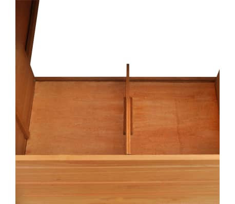 Outdoor Chicken Cage Hen House with 1 Egg Cage Wood[4/7]