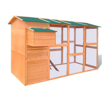 Outdoor Chicken Cage Hen House Large Space Wood[2/9]
