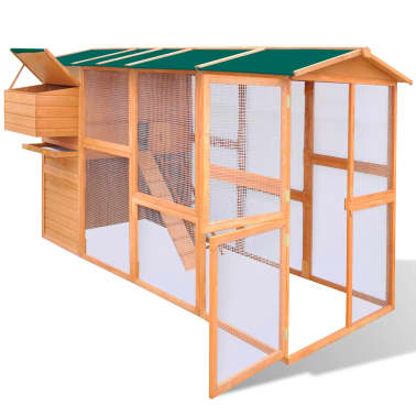 Outdoor Chicken Cage Hen House Large Space Wood[3/9]