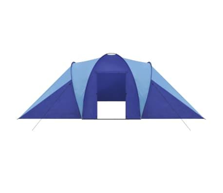 Tente de camping imperméable 6 Personnes Bleu marin/bleu clair[3/9]
