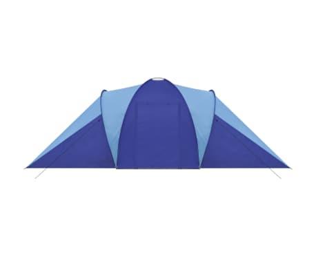 Tente de camping imperméable 6 Personnes Bleu marin/bleu clair[4/9]