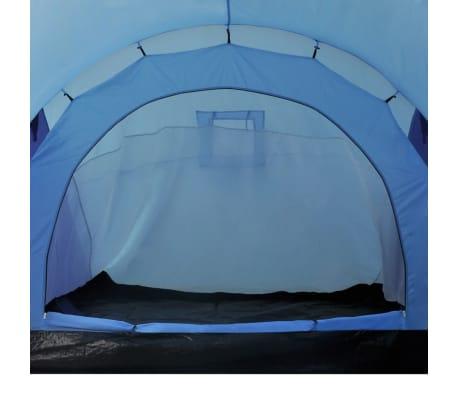 Tente de camping imperméable 6 Personnes Bleu marin/bleu clair[6/9]