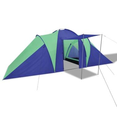 Familienzelt Kuppelzelt Campingzelt 6 Personen Grün[2/9]