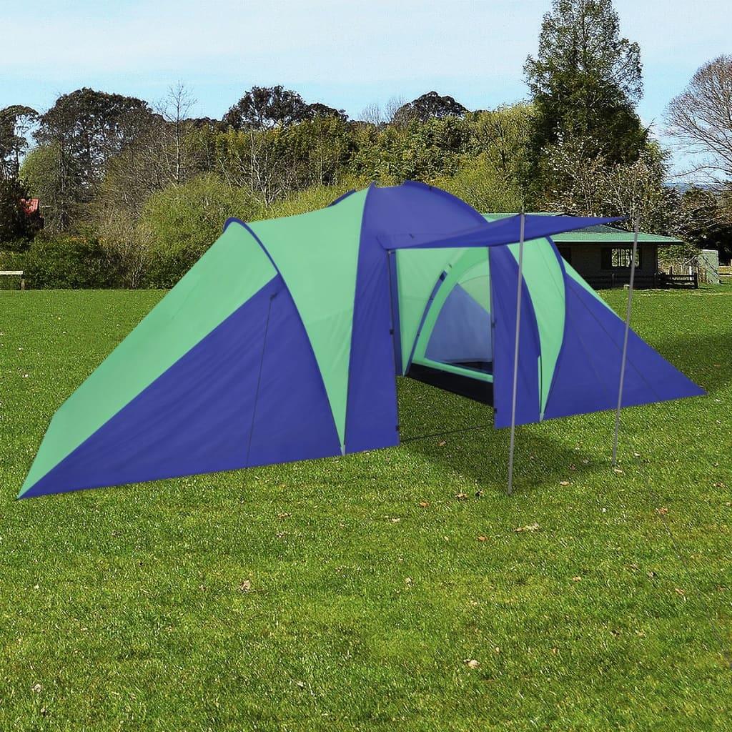 Kempový stan pro 6 osob, námořnická modrá / zelená