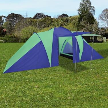 Familienzelt Kuppelzelt Campingzelt 6 Personen Grün[1/9]