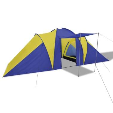 Familienzelt Kuppelzelt Campingzelt 6 Personen Gelb[2/9]