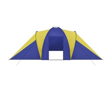 Familienzelt Kuppelzelt Campingzelt 6 Personen Gelb[3/9]