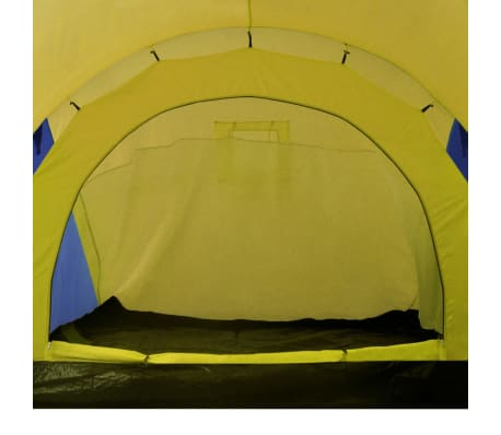 Familienzelt Kuppelzelt Campingzelt 6 Personen Gelb[6/9]
