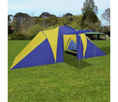 Familienzelt Kuppelzelt Campingzelt 6 Personen Gelb[1/9]
