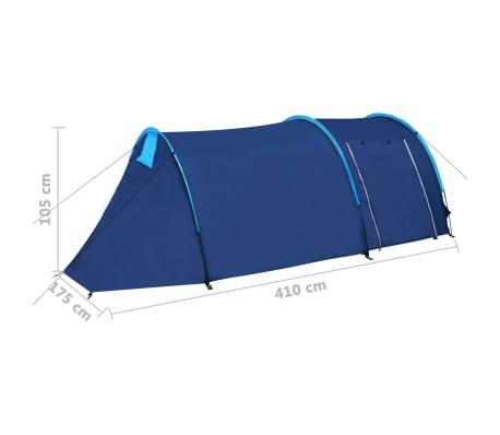 Tent voor 4 personen marineblauw/lichtblauw[9/9]