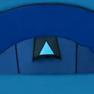 vidaXL Tienda de campaña para 4 personas azul marino/azul claro[6/9]