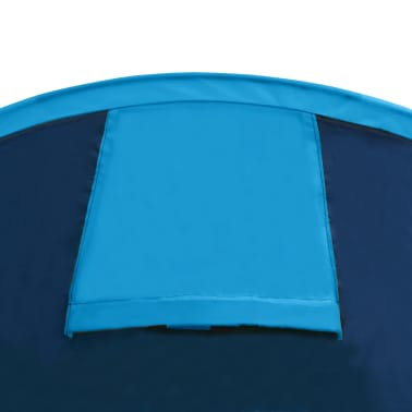 vidaXL Tienda de campaña para 4 personas azul marino/azul claro[7/9]