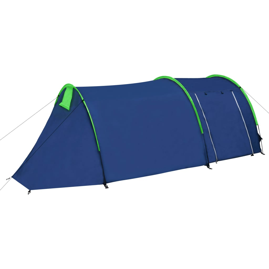 vidaXL Camping Tent 4 Persons Navy Blue/Green