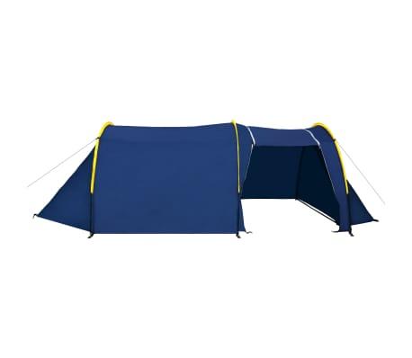 Tienda De Campaña 4 Personas Azul Marino / Amarillo[4/10]