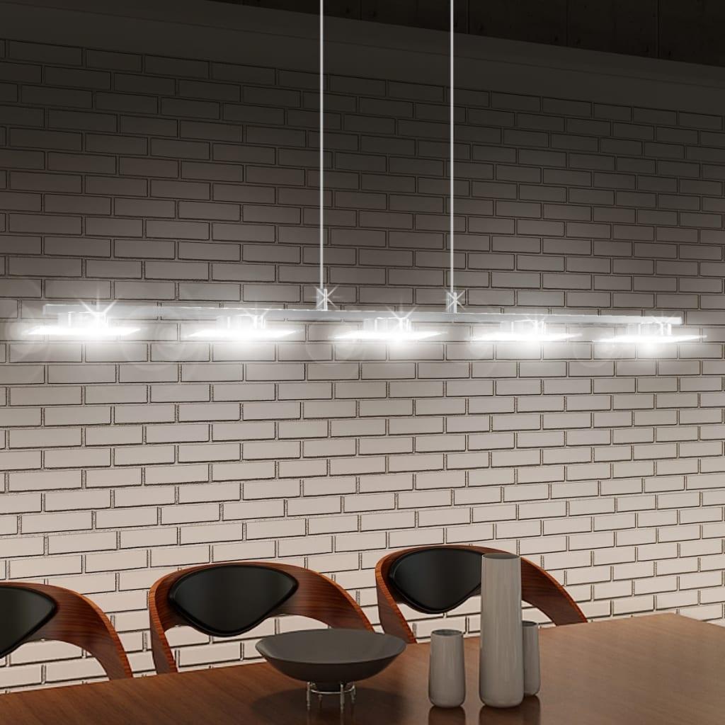 Závěsné LED svítidlo, akrylové sklo, 5 x 5 W, 100 cm