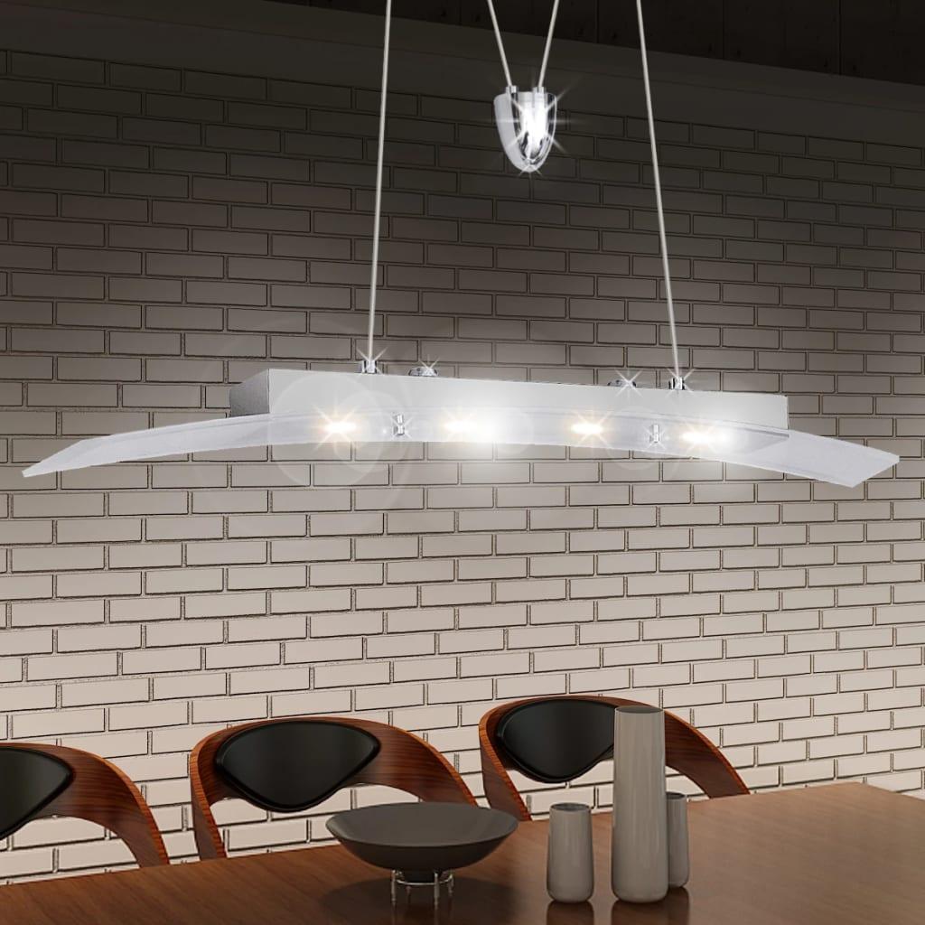 Závěsné LED svítidlo, akrylové sklo, 4 x 5 W, 80 cm