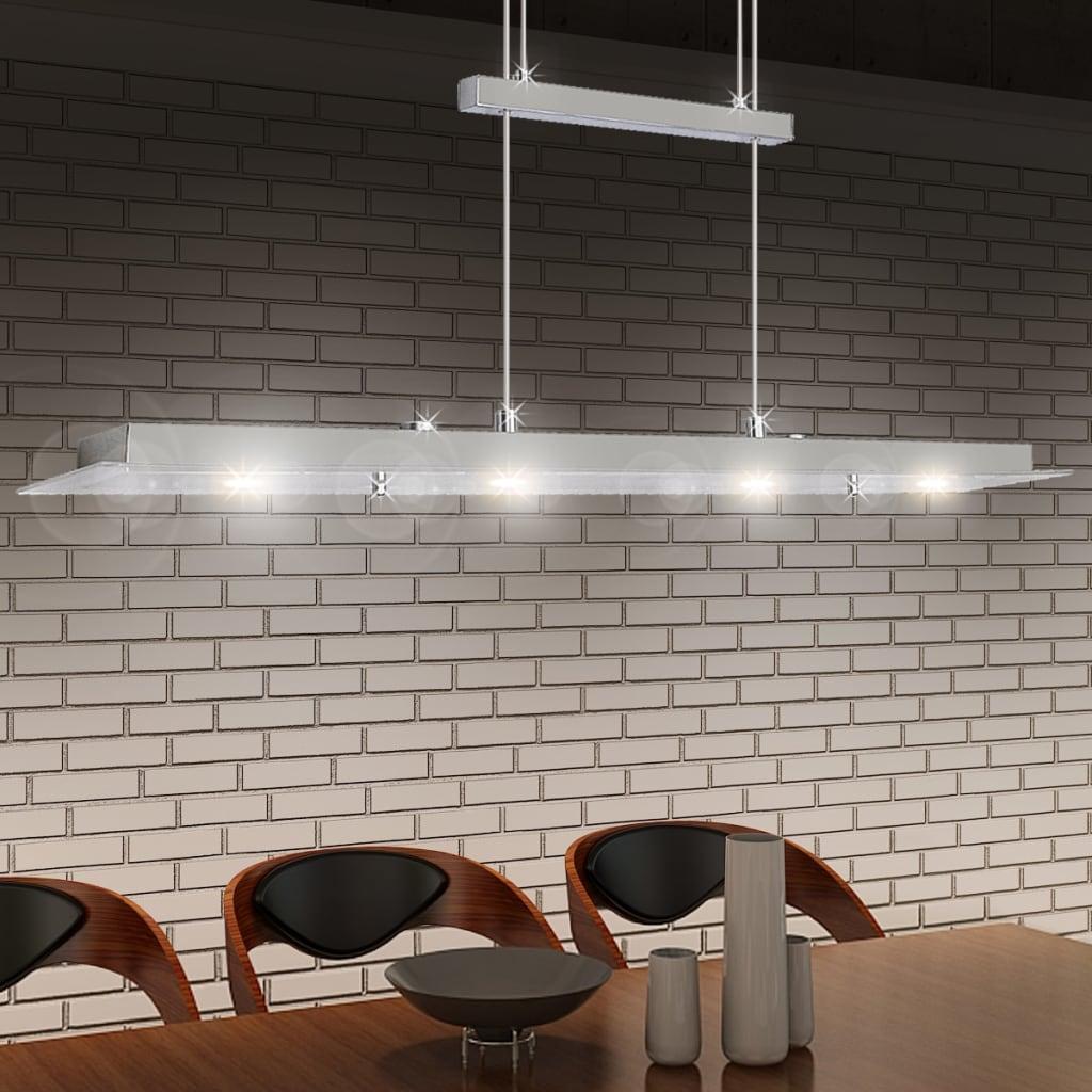Lustră dreaptă din acril cu LED-uri 80 cm 4 x 5 W poza vidaxl.ro