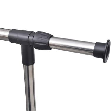 vidaXL Perchero ajustable para ropa 4 ruedas 1 barras[4/8]