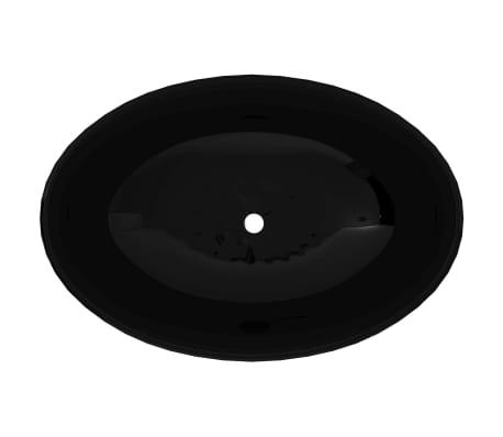 Luxusné keramické umývadlo, oválny tvar, čierne, 40 x 33 cm[3/6]