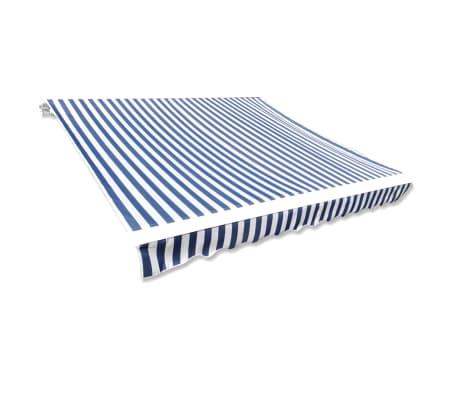 vidaXL Markizės viršus, mėlyna ir balta, 3x2,5m (rėmas nepridedamas)