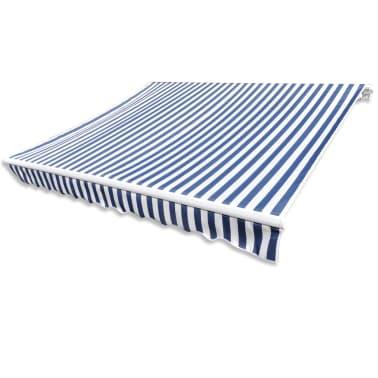 Markiza przeciwsłoneczna biało-niebieskie płótno 3 x 2,5 m[3/4]