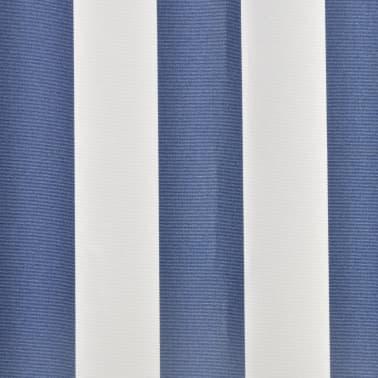 Markiza przeciwsłoneczna biało-niebieskie płótno 3 x 2,5 m[4/4]