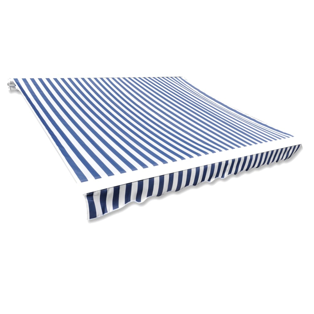 Canvas zonnescherm met luifel 3 x 2.5 m (blauw wit)