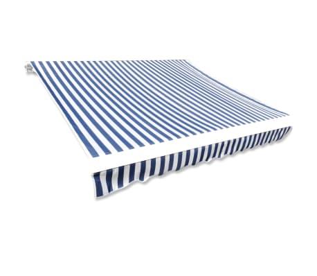 Store banne en toile Bleu et Blanc 4 x 3 m (Cadre non inclus)[2/4]