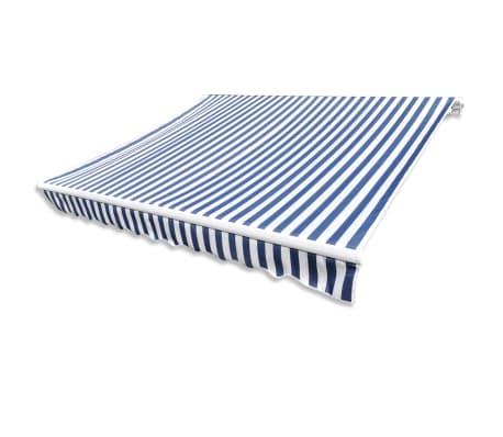 Store banne en toile Bleu et Blanc 4 x 3 m (Cadre non inclus)[3/4]