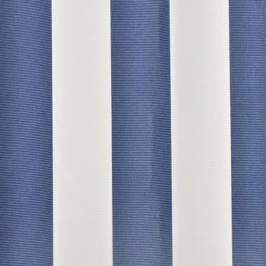 Store banne en toile Bleu et Blanc 4 x 3 m (Cadre non inclus)[4/4]