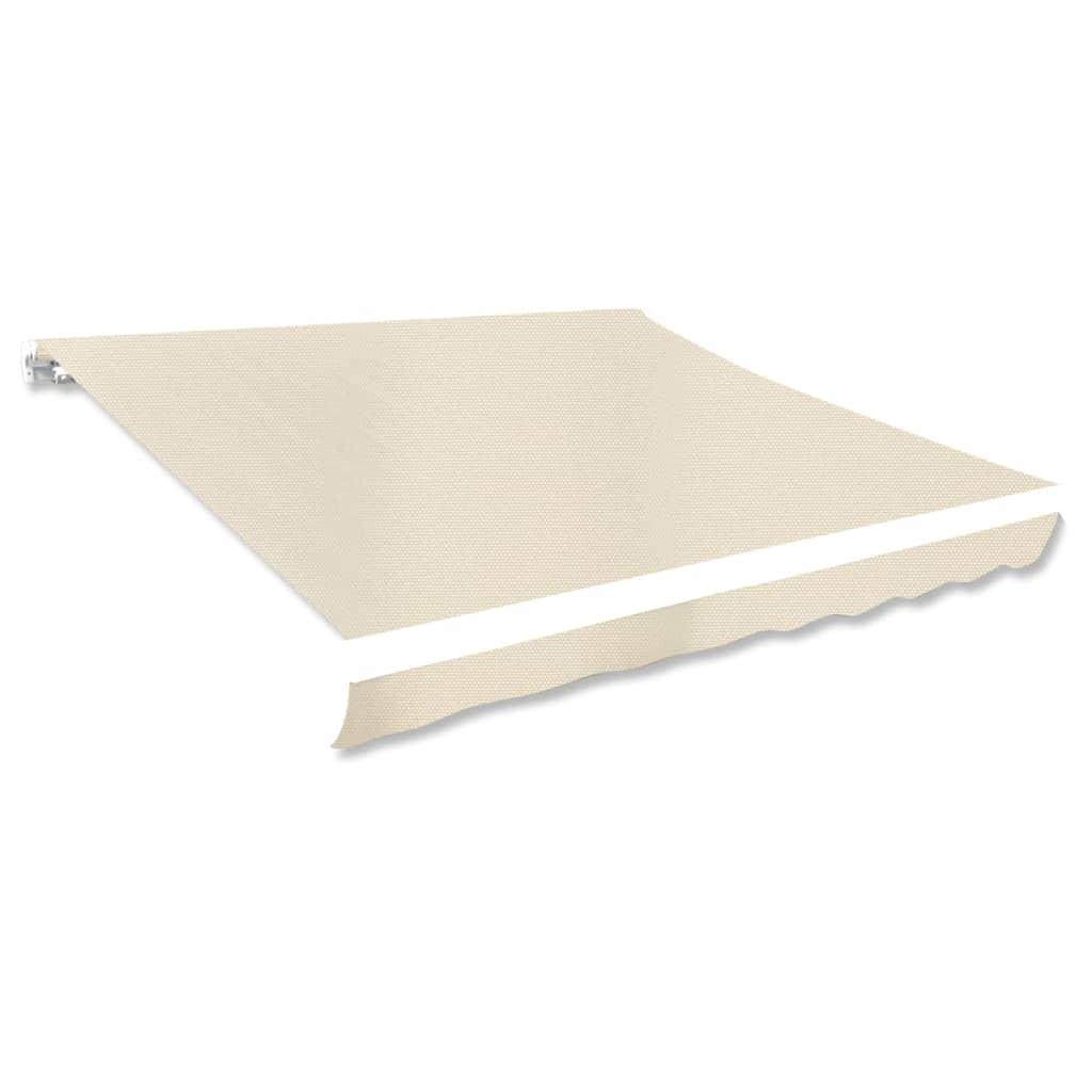 Plachta na markýzu plátěná krémová 3 x 2,5 m (bez rámu)