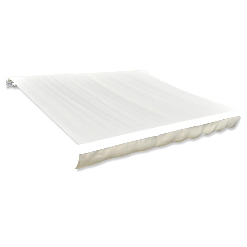 Afbeelding van vidaXL Canvas zonneschermdoek met luifel 4 x 3 m (crème)(exclusief frame)