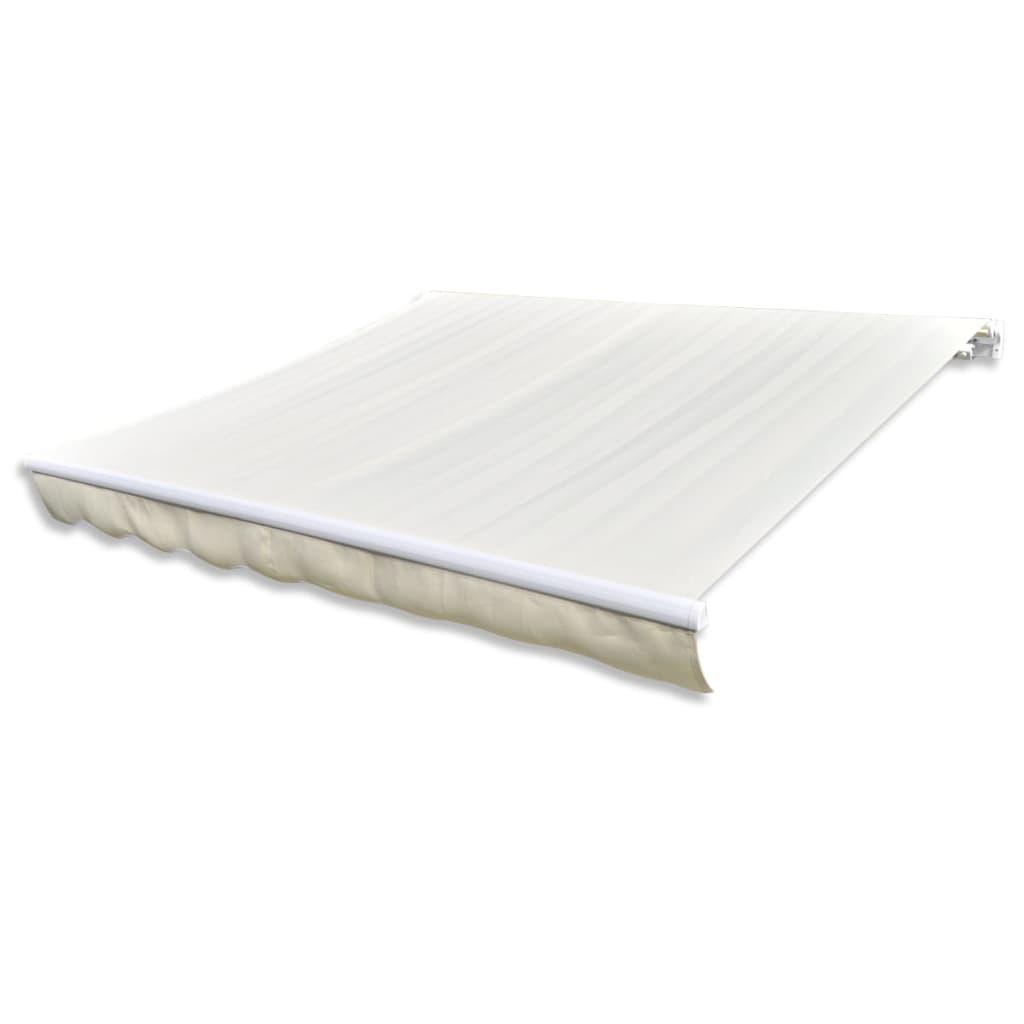 vidaXL Canvas zonneschermdoek met luifel 4 x 3 m (crème)(exclusief frame)