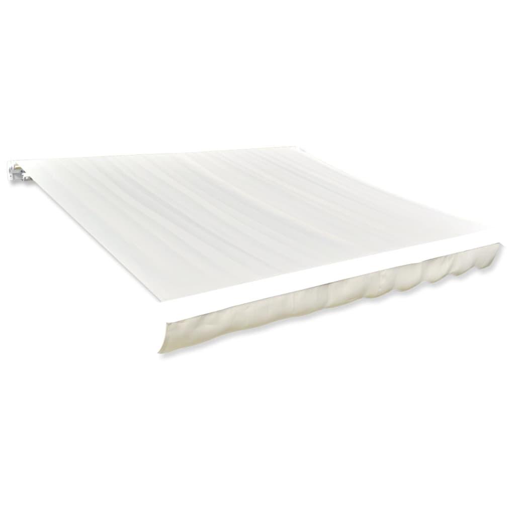 Afbeelding van vidaXL Canvas zonneschermdoek met luifel 6 x 3 m (crème)(exclusief frame)
