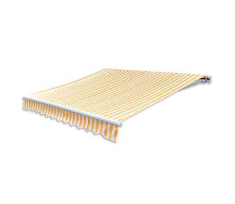 vidaXL Tissu d'auvent Toile Jaune et blanc 3 x 2,5m (cadre non inclus)[3/4]