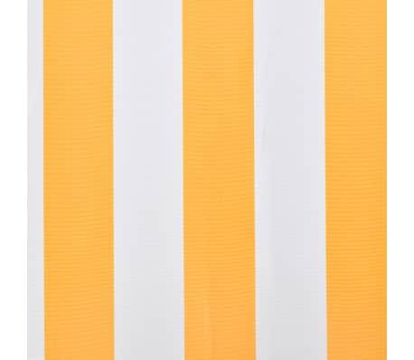 vidaXL Tissu d'auvent Toile Jaune et blanc 3 x 2,5m (cadre non inclus)[4/4]