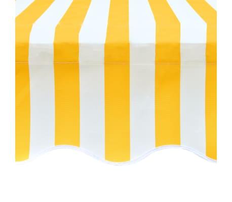 vidaXL Tissu d'auvent Toile Jaune et blanc 4 x 3 m (cadre non inclus)[4/4]