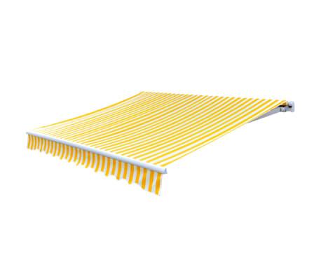 vidaXL Tenda iz platna rumena in bela 6 x 3 m (brez okvirja)[3/4]