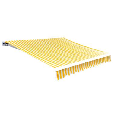 vidaXL Tenda iz platna rumena in bela 6 x 3 m (brez okvirja)[1/4]