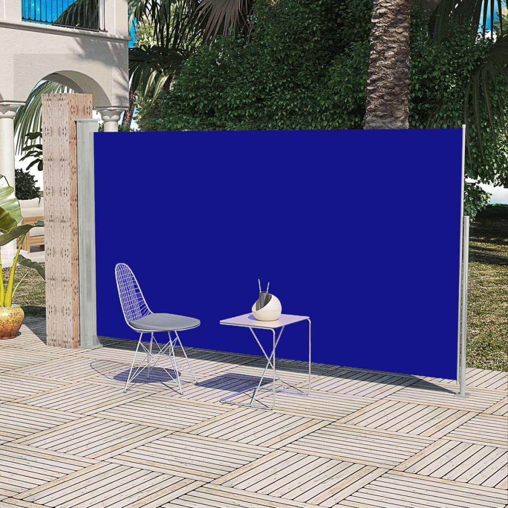 Panou separator glisant pentru terasă 160 x 300 cm, Albastru poza 2021 vidaXL