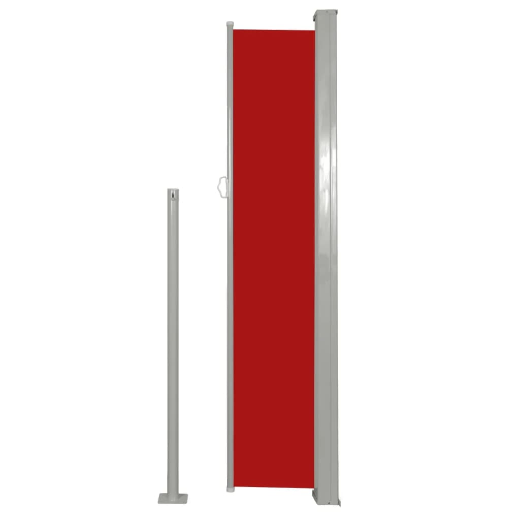 Boční markýza na terasu / balkonová zástěna 160 x 300 cm červená