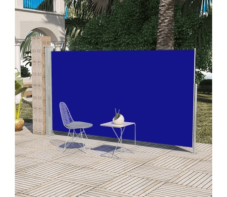 Terrassenmarkise Seitenmarkise 180 x 300 cm Blau[1/6]