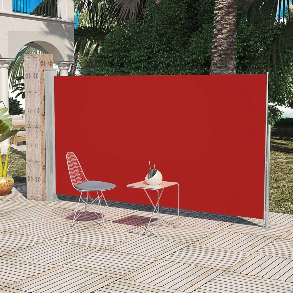 vidaXL Σκίαστρο Πλαϊνό Συρόμενο Βεράντας Κόκκινο 180 x 300 εκ.