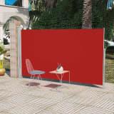 vidaXL Uittrekbaar wind-/zonnescherm 180x300 cm rood