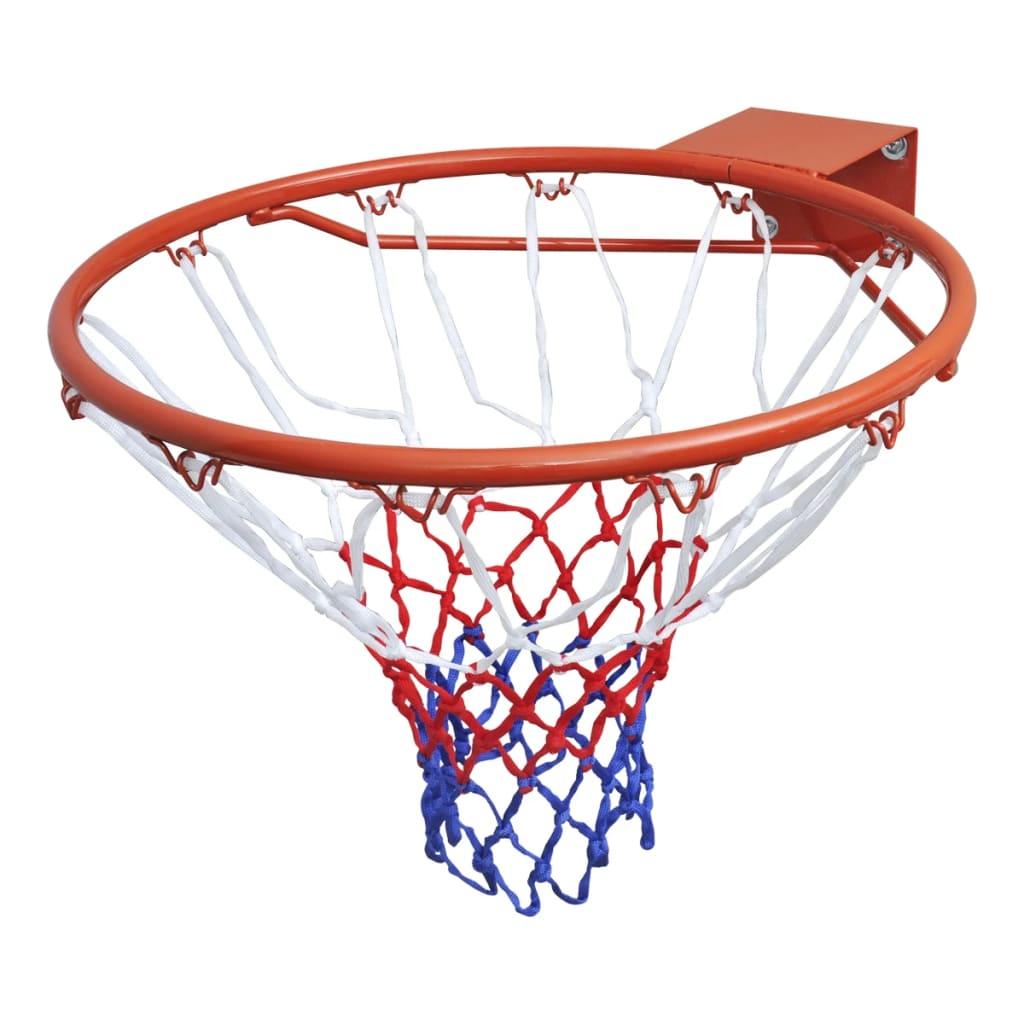 Oranžová basketbalová obroučka se sítí